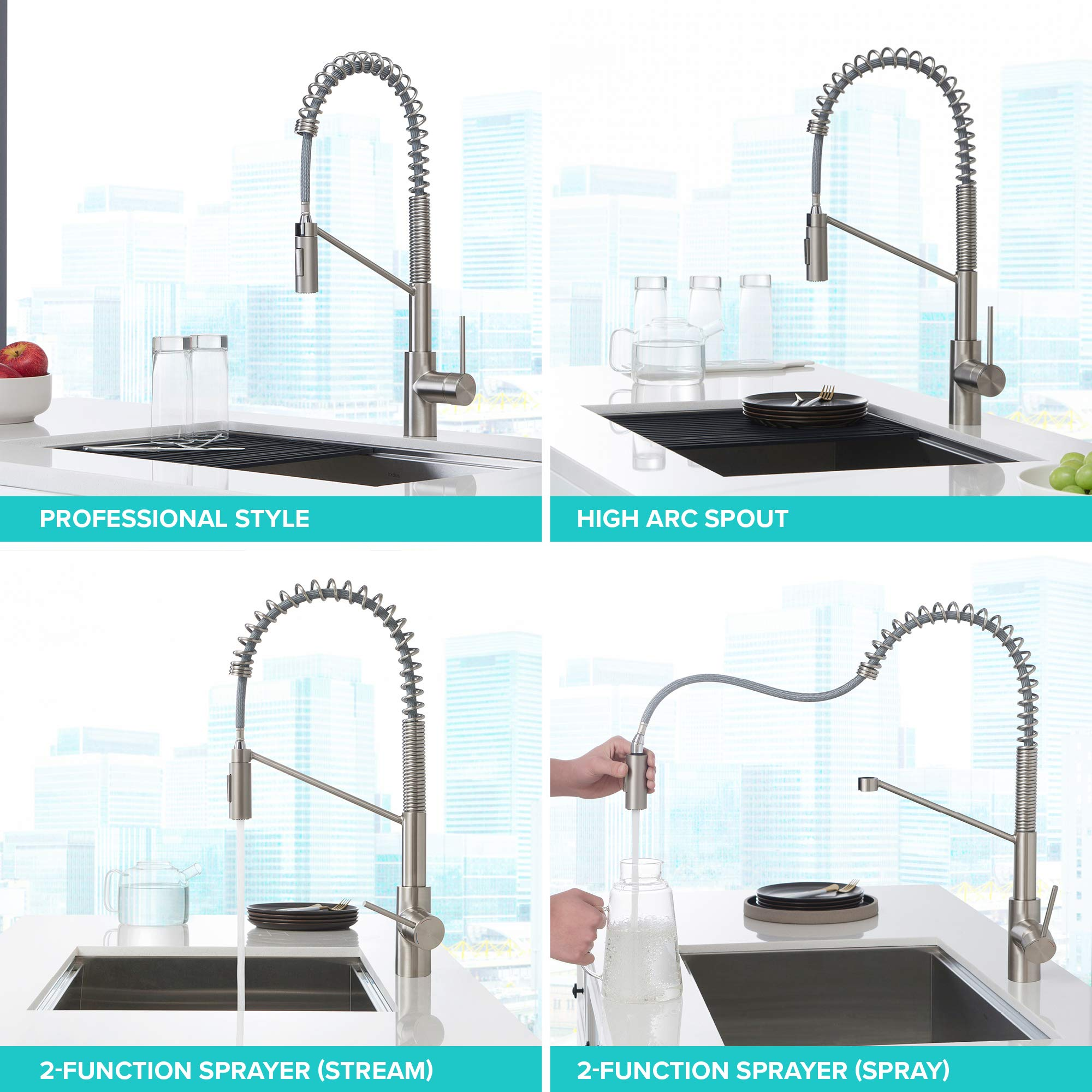 Kraus KPF-2631SFS Oletto Kitchen Faucet, 21.75 inch, Spot Free Stainless Steel by Kraus (Image #13)