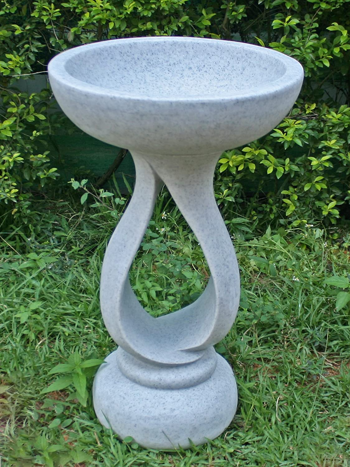 Statues & Sculptures Online Grasmere Granite Resin Contemporary Garden Bird Bath