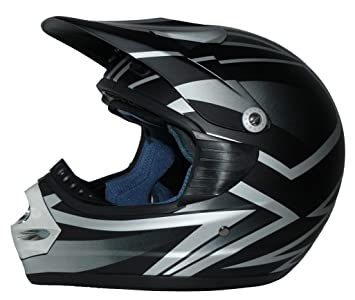 Casco de moto Casco de motocross gris negro mate SC01-MT - L
