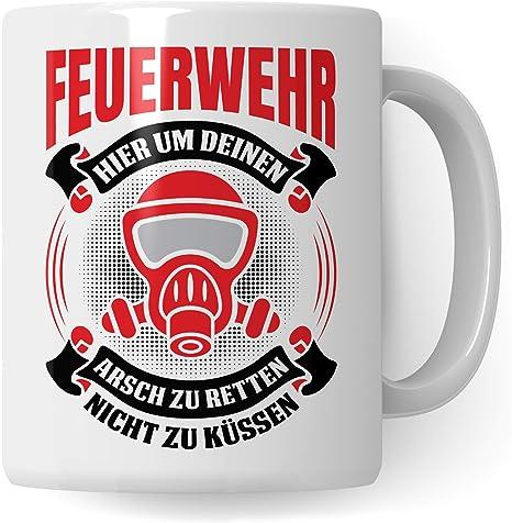 Pagma Druck Feuerwehr Tasse Geschenk Feuerwehrmann Spruch Becher Geschenkidee Kaffeetasse Freiwillige Feuerwehr Weiß Weiß Amazon De Küche Haushalt