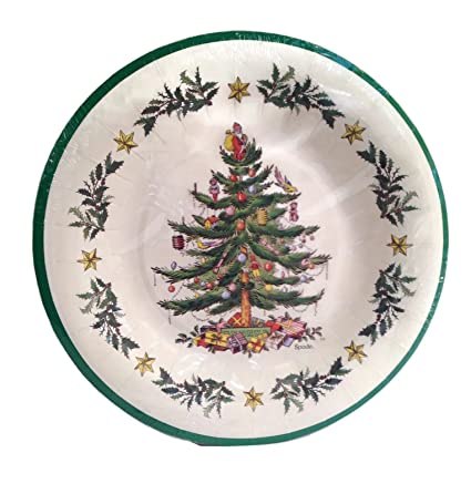 Spode Christmas Tree 8 Coated Dinner Plates by C.R. Gibson - Amazon.com Spode Christmas Tree 8 Coated Dinner Plates By C.R.