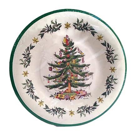 Spode Christmas Tree 8 Coated Dinner Plates by C.R. Gibson  sc 1 st  Amazon.com & Amazon.com | Spode Christmas Tree 8 Coated Dinner Plates by C.R. ...