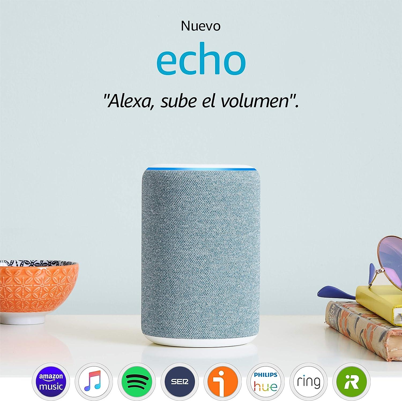Nuevo Amazon Echo (3.ª generación) - Altavoz inteligente con Alexa