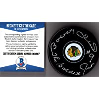 "$34 » Beckett-BAS Bobby Hull #9 ""The Golden Jet"" Autographed Signed Chicago Blackhawks…"