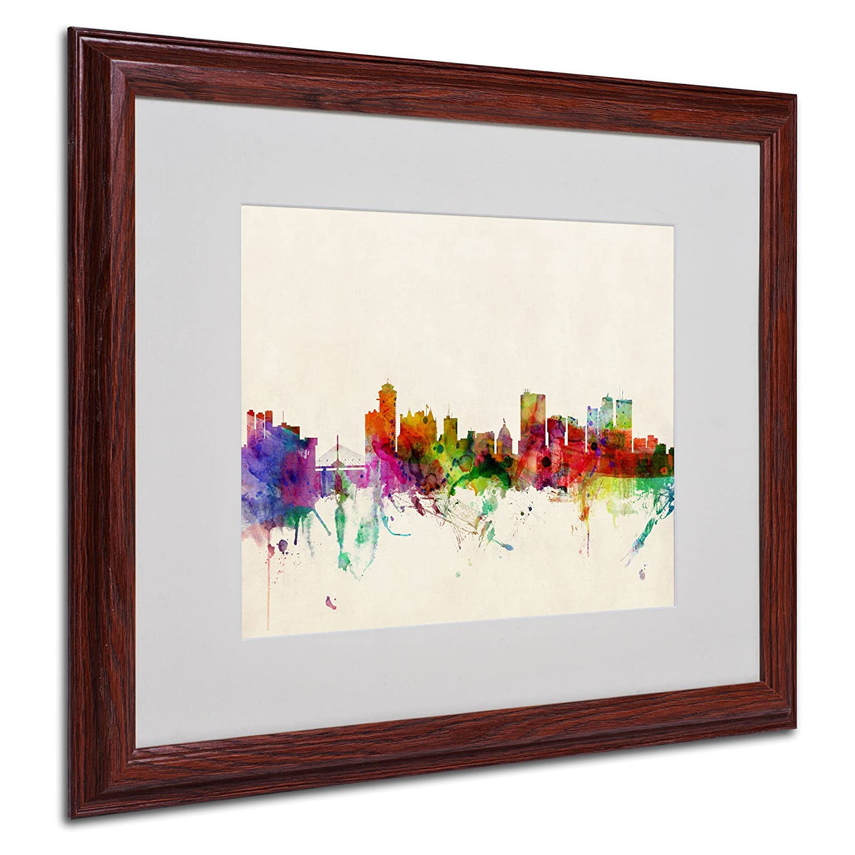 Amazon com winnipeg canada by michael tompsett canvas art 16 by 20 inch wood frame wall art