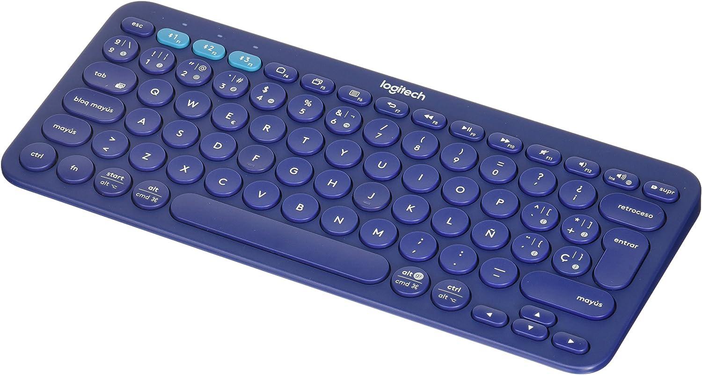 Logitech K380 - Teclado inalámbrico (79 teclas, Bluetooth, multidispositivo), color azul
