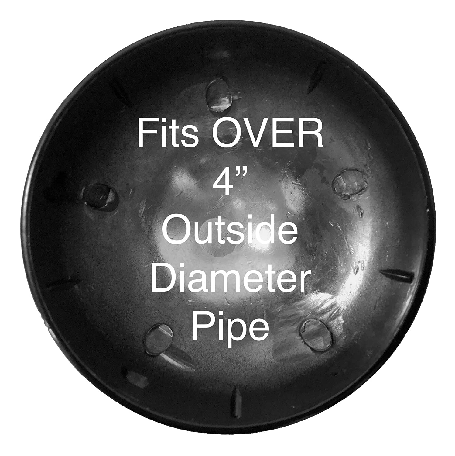 Use for 1-3//8 Outside Diameter Post//Pipe 1-3//8 Chain Link Fence Post Cap BLACK Powder Coated Aluminum Chain Link Post Cap