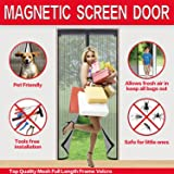 Mysuntown Magnetic Screen Door with Tight Magnet Seal, Close Automatically Mesh Curtain