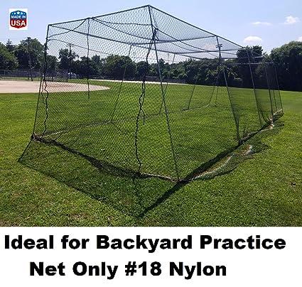 EXCURSIONS Journey To Health Backyard Baseball Batting Cage #18 Nylon Net  Netting All Sizes ( - Amazon.com : Backyard Baseball Batting Cage #18 Nylon Net Netting