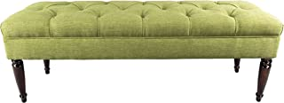 product image for MJL Furniture Designs Claudia Collection Upholstered Diamond Tufted Bedroom Accent Bench, Key Largo Series, Grass