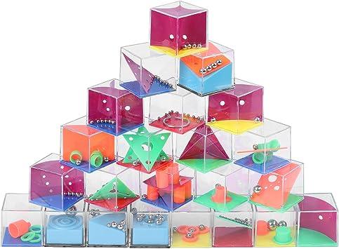 Herefun 3D Laberintos, Juego Mágico Intelecto Educativo,3D Juego de Habilidad, Juegos de Ingenio para Niños Adultos Regalo para Fiesta Cumpleaños: Amazon.es: Juguetes y juegos