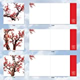 Cheers and Cherries - 10 Blank Chinese Holiday