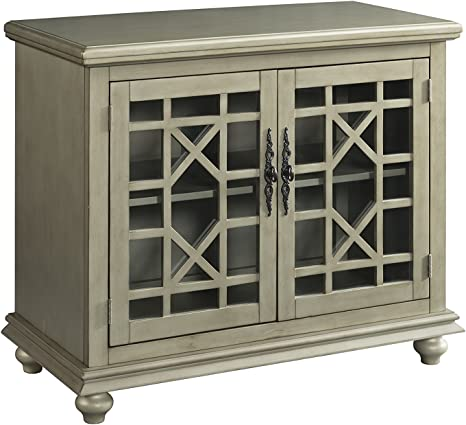 Martin Svensson Home 91034 Small Spaces 2 Door Accent Cabinet Tv Stand 38 W X 32 H Antique Silver Amazon Ca Home Kitchen