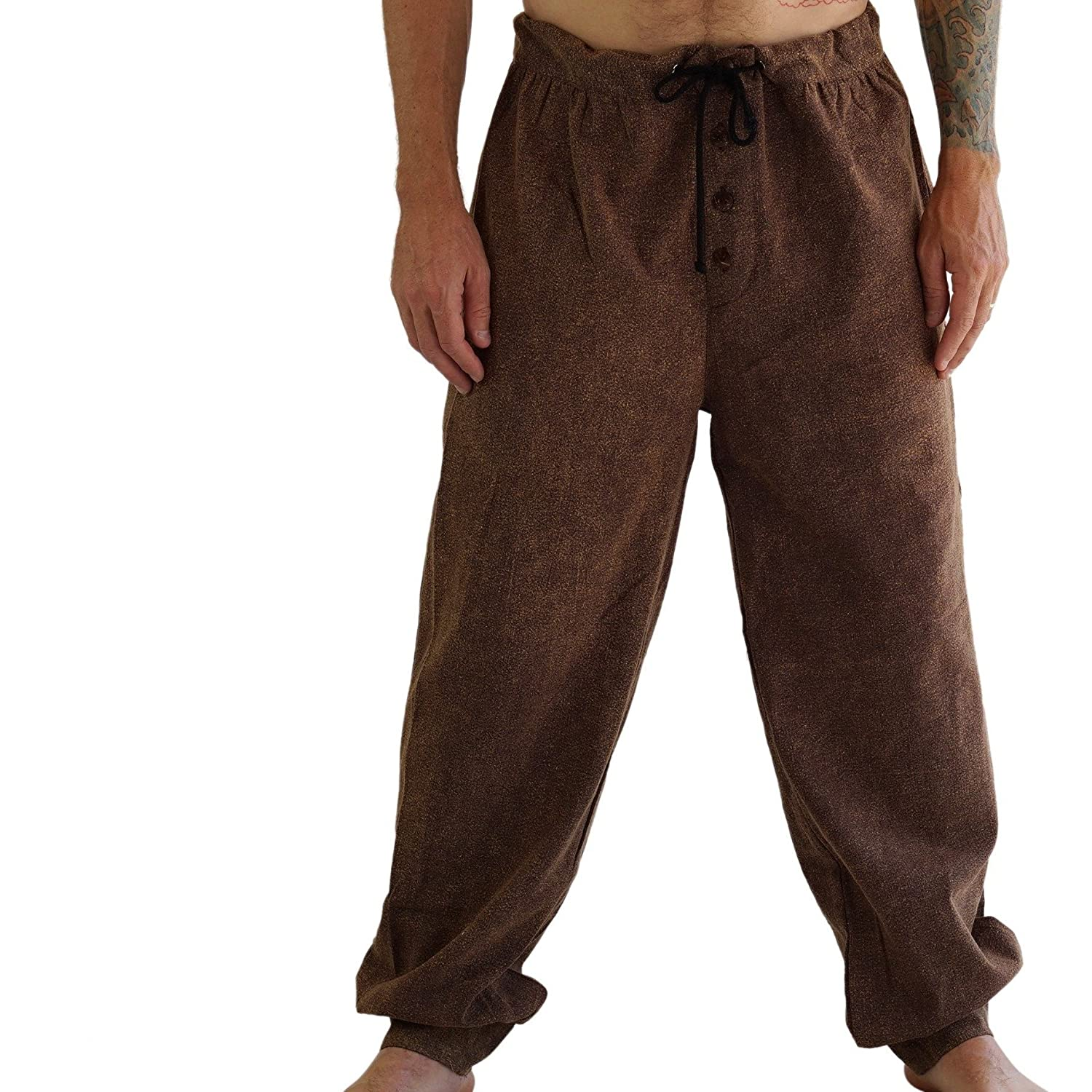 zootzu 'Corsair' Peasant Pants - Stone Brown