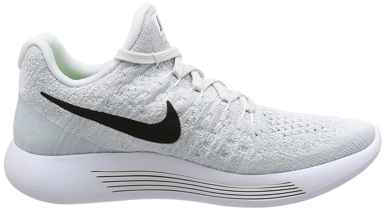 best website af51d 5686c Amazon.com   Nike Women s Lunarepic Low Flyknit 2 Running Shoe  White Black-Pure Platinum 5.5 B (M)   Road Running