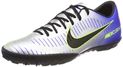 436bc18f605 Nike MercurialX Victory VI Neymar IC Mens Soccer-Shoes 921517-407 10 -  Racer Blue