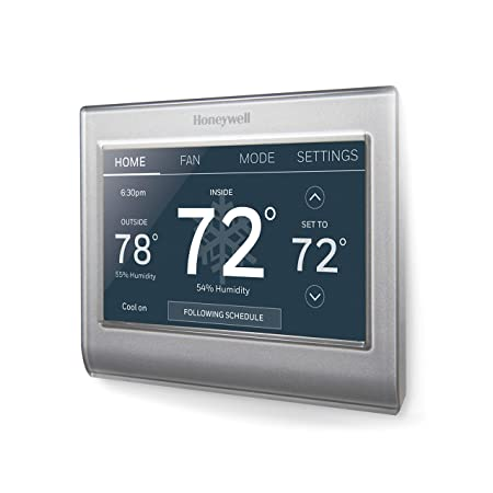 Honeywell RTH9585WF1004 W Home Wi-Fi Smart Color Programmable Thermostat, Alexa Enabled, RTH9585WF1004 , Pack of 1, Gray
