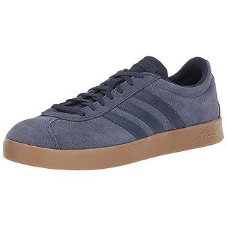 adidas Performance Men's VL Court 2.0 Sneaker,  Trace Blue/Trace Blue/Gum,  10 M US