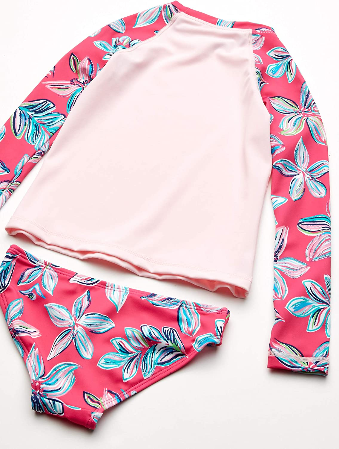 Kanu Surf Girls Long Sleeve Rashguard Two Piece Swim Set