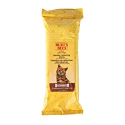 Burt's Bees for Cats Natural Dander Reducing Wipes | Kitten and Cat Wipes for Grooming | Cruelty Free, Sulfate & Paraben Free, pH Balanced for Cats - Made in The USA