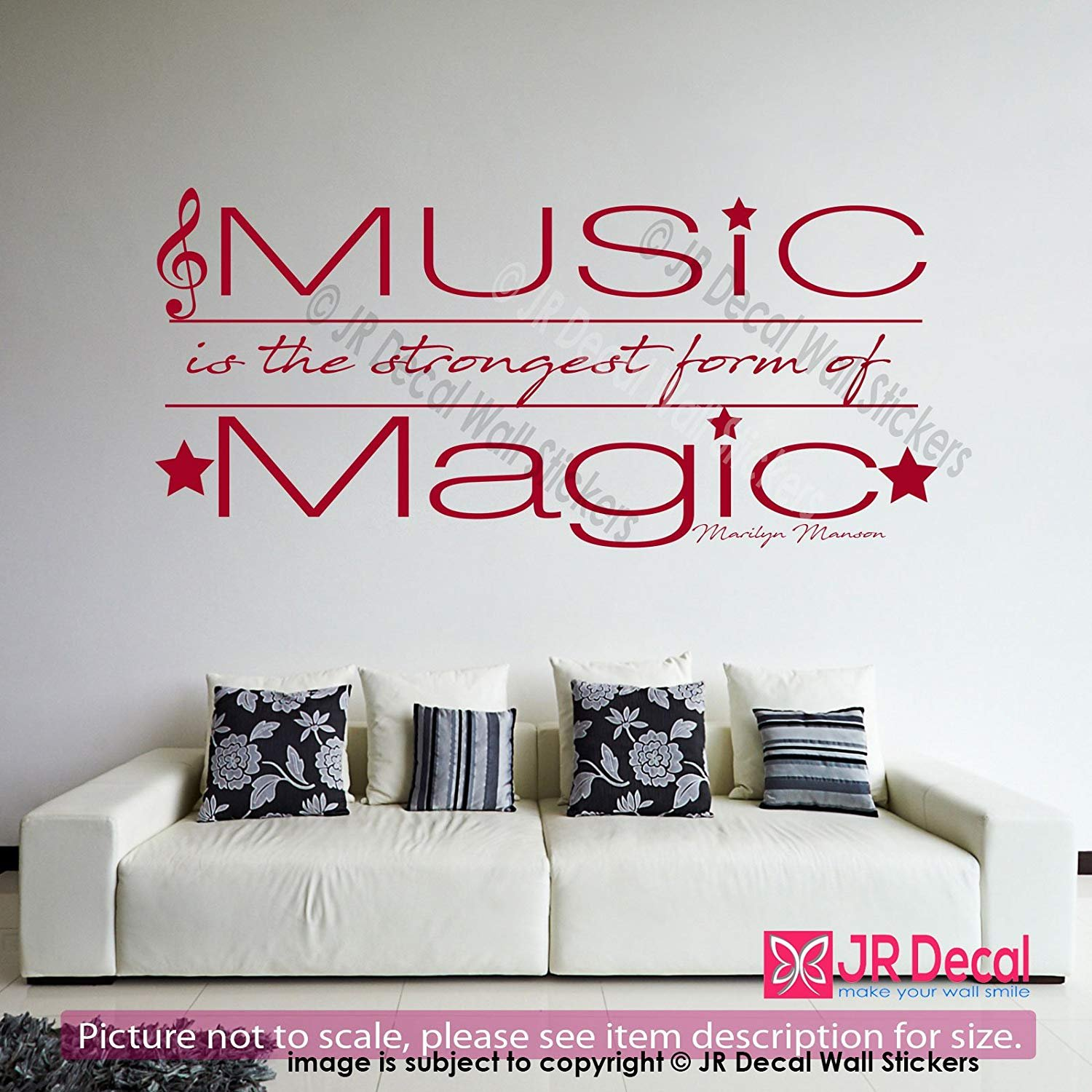 Music is the strongest form of magic marilyn manson inspiring quote of life removable vinyl wall art stickers motivational quotes vinyl wall decals