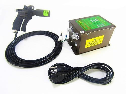 KUNHEWUHUA Ionizing Air Gun ESD Static Electrostatic Eliminator Antistatic Ionizer Anti-Static Air Gun Adjustable Air Volume High Voltage Generator 4.6KV 0.3-0.8MPa 110v