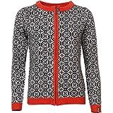 ICEWEAR HRÖNN Women's Wool Sweater Norwegian Design Full Zip Angora Blend Sweater Light and Comfortable Long Sleeve Outdoor