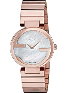 88c618089c6 Gucci Interlocking Quartz Metal and Gold-Tone-Stainless-Steel Women s Watch  (Model