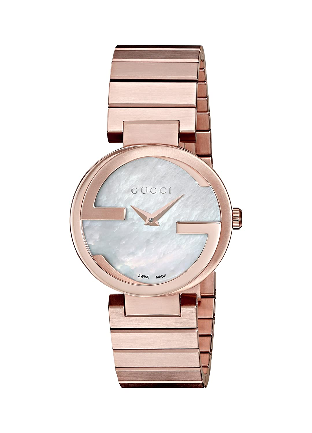 3b131f65a9b30 Amazon.com  Gucci Interlocking Quartz Metal and Gold-Tone-Stainless-Steel  Women s Watch (Model  YA133515)  Watches