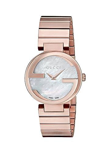 Gucci Interlocking - Reloj de Pulsera analógico para Mujer Cuarzo, Revestimiento de Acero Inoxidable ya133515: Allessandro Michele: Amazon.es: Relojes