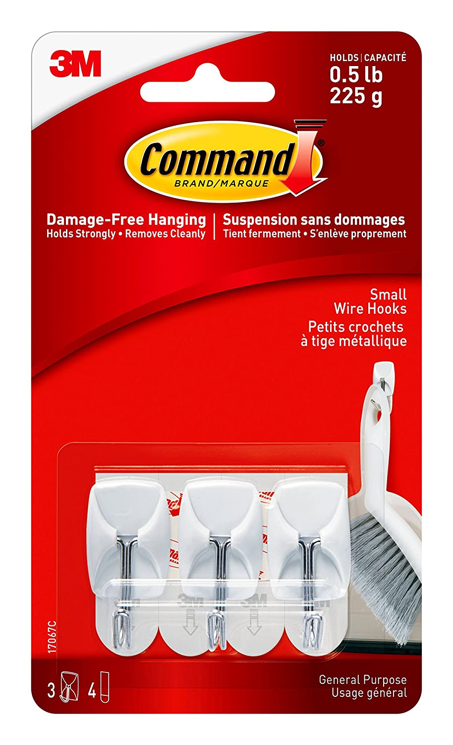 Command 17067-MPEF Wire Hooks Mega Pack, Small, 28 Hooks 32 Strips 3M 17067-MPES