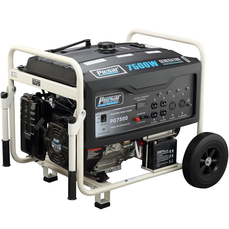 Amazon Pulsar PG7500 7500W Peak 6000W Rated Portable Gas