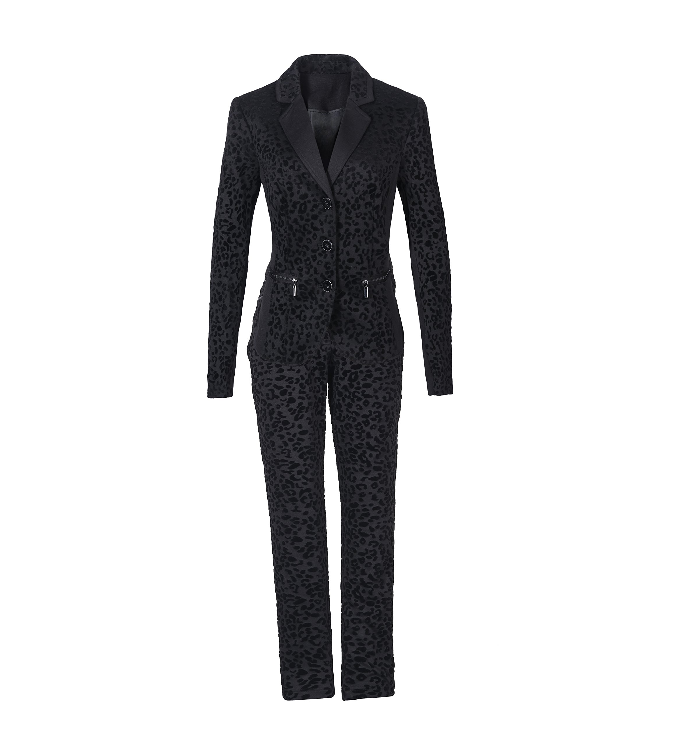 F&C Women's 3 Button Jacket three Piece , skirts,Jacket and Pant Sui Set (8)