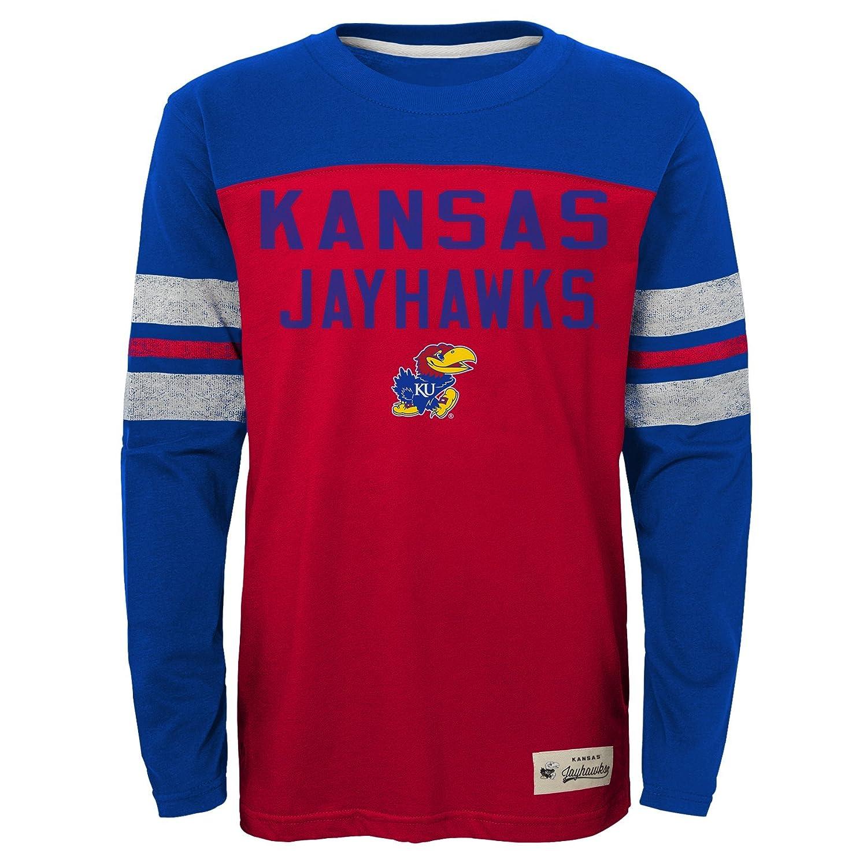 NCAA by Outerstuff NCAA Kansas Jayhawks Kids /& Youth Boys Legacy Tee Long Sleeve Crew Dark Red 14-16 Youth Large