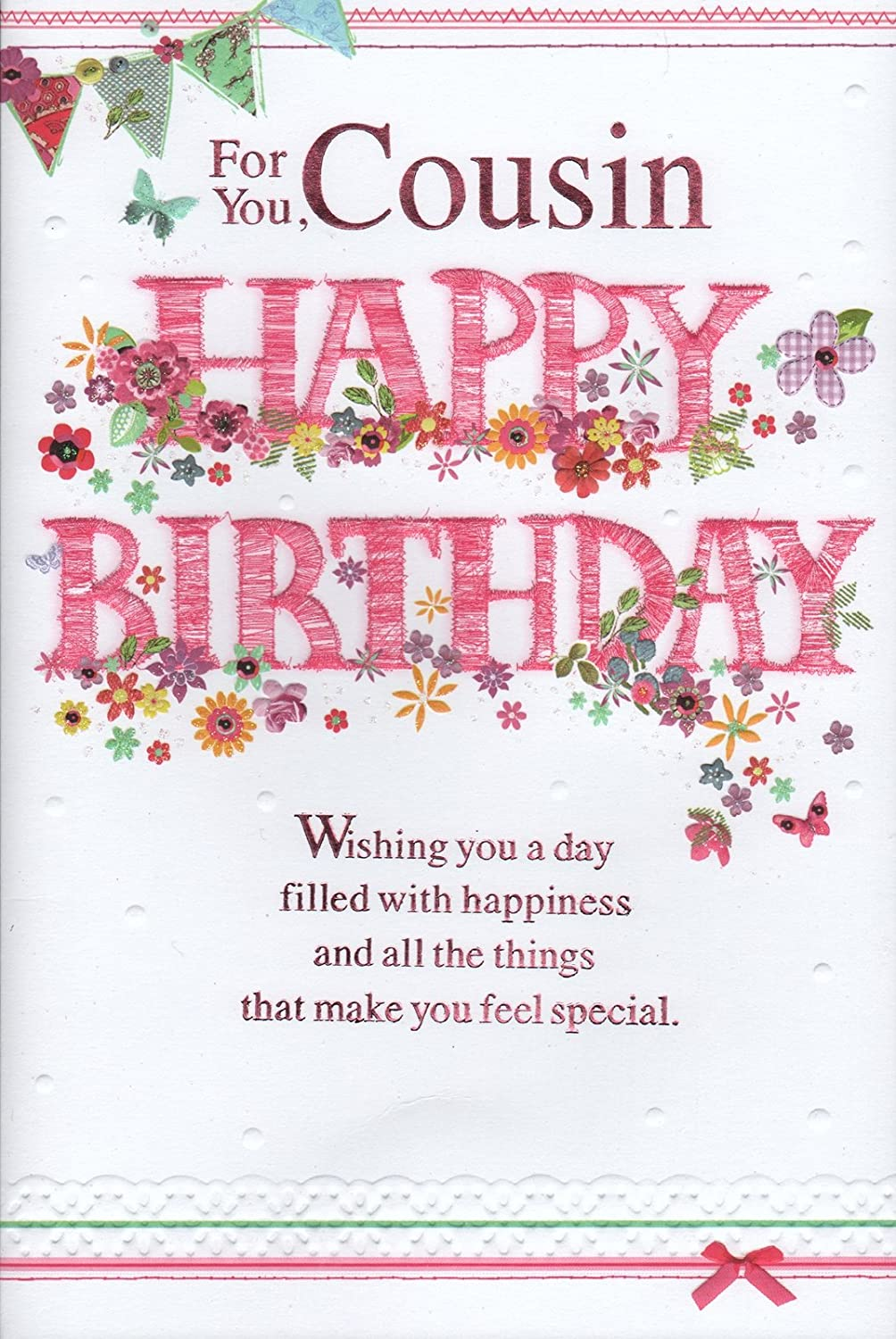 Cousin Birthday Card For You Cousin Happy Birthday Female – Happy Birthday Cousin Card