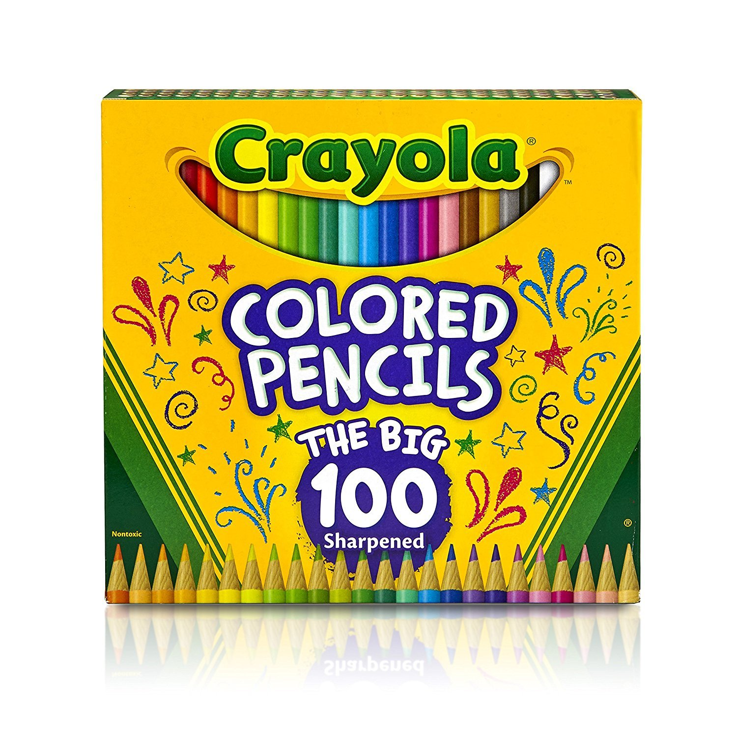 2-Pack of 100 Crayola Colored Pencils