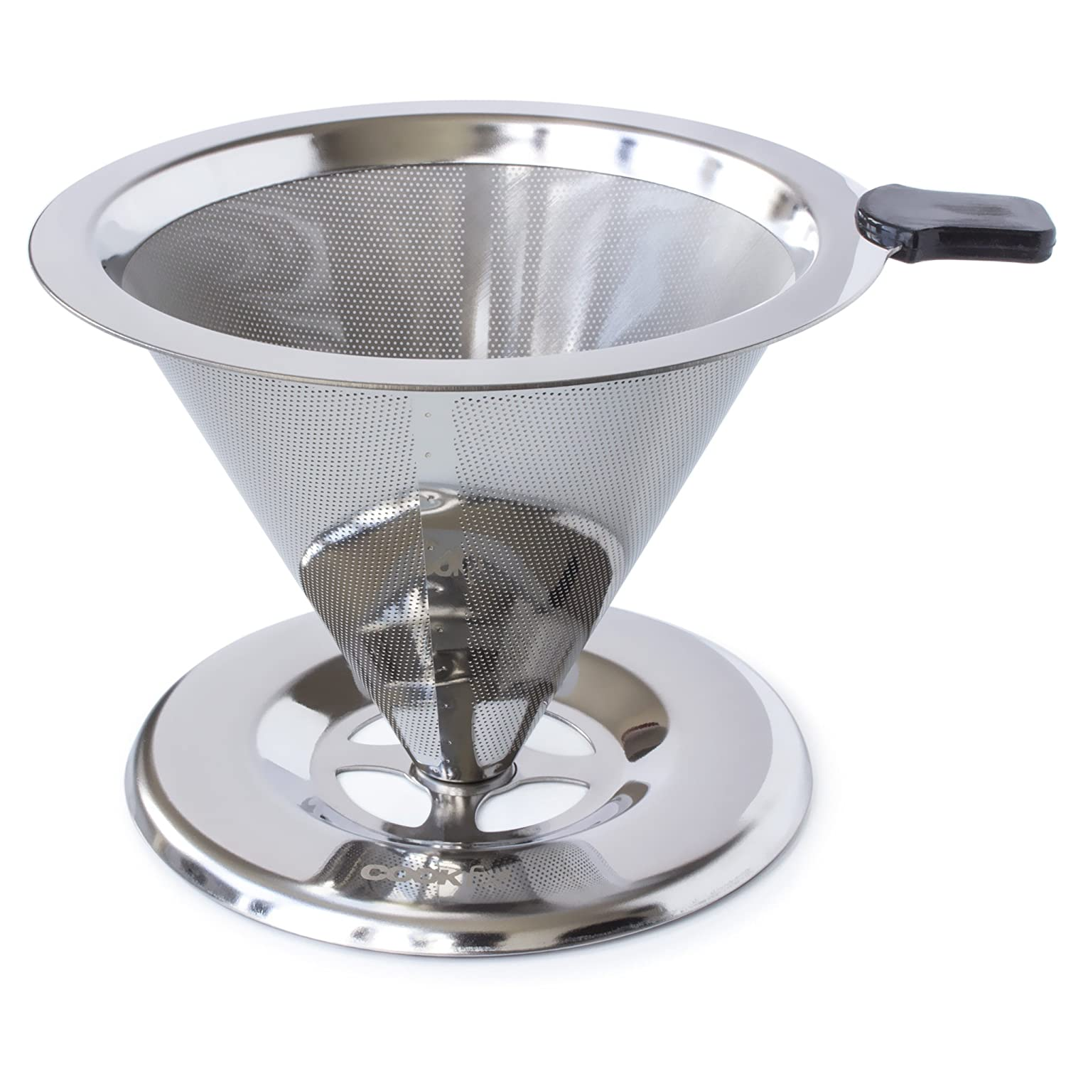 *NEW* PREMIUM Stainless Steel Coffee Dripper Cone - Pour Over Maker - Single Cup