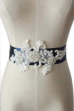 Lemandy Lace Handmade Pearl Belt/Sash For Wedding/Evening/Prom Dress B10 (