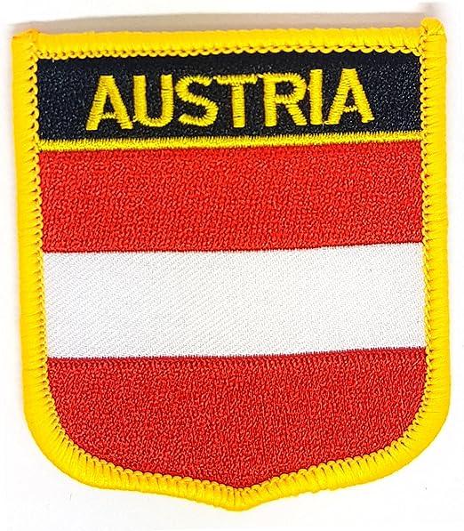 Parche bordado en forma de escudo de banderas nacionales del mundo ...