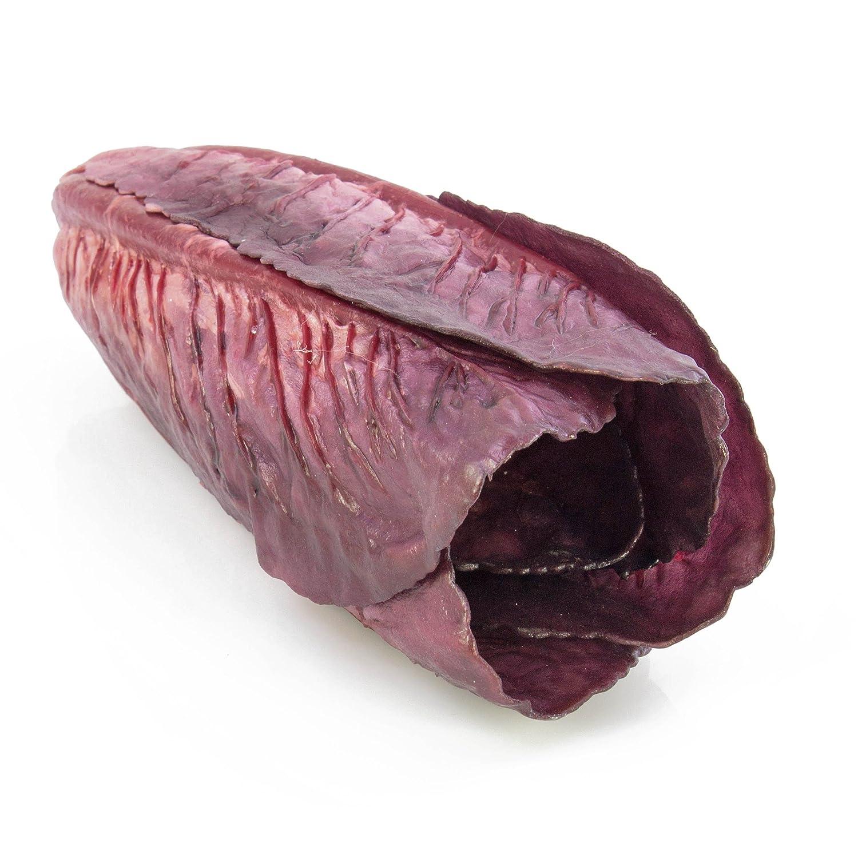artplants Cavolo cinese lilla artificiale, 27 cm, Ø 9 cm - Ortaggio artificiale/Verdura decorativa