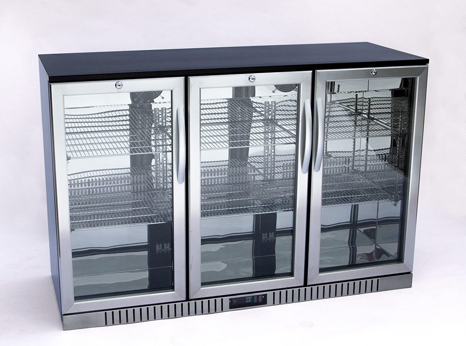 "54"" Wide 3-door Stainless Steel Back Bar Beverage Cooler"