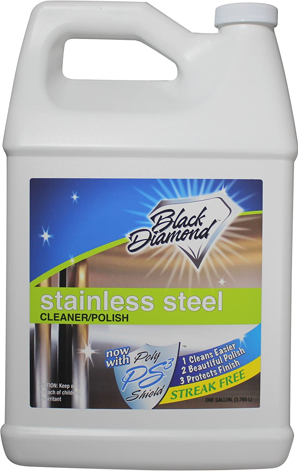 Stainless Steel Cleaner & Polish Best Streak Free Clean & Shine for All Appliances Refrigerators, Oven, Stove, Dishwasher and More. by Black Diamond Stoneworks