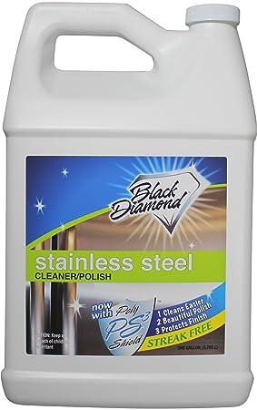 Polaco y limpiador de acero inoxidable mejor Streak libre limpia y brilla para todos los aparatos frigoríficos, horno, estufa, apta para lavavajillas ...