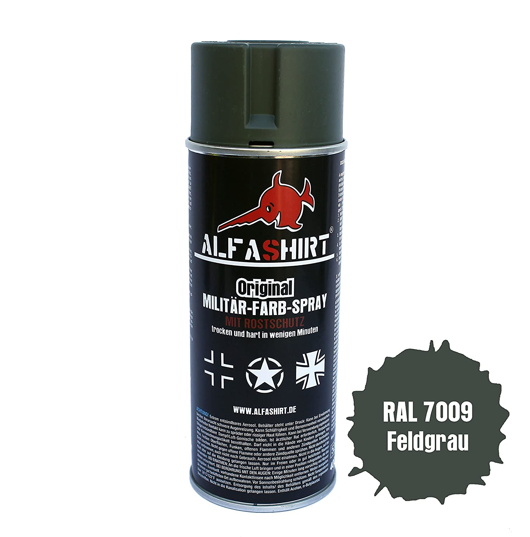 Vernice spray di colore RAL 7009, colore originale totalmente opaco, colore casco Reichswehr M16, per restaurare e verniciare veicoli militari (auto, camion, auto d' epoca), #14010 auto d' epoca) Copytec