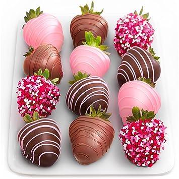 Amazon Com Love Berries Chocolate Covered Strawberries 12