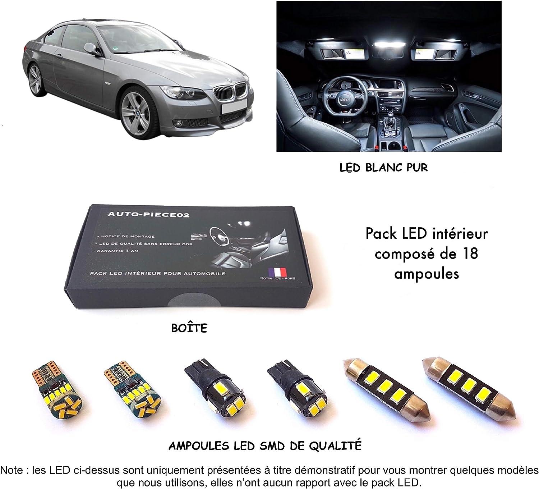 Pack FULL LED int/érieur pour S/érie 3 Coup/é E92 Kit ampoules blanc pur