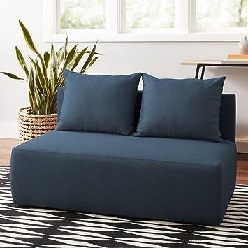 Amazon.com: Mainstays Modular doble silla de salón, azul ...