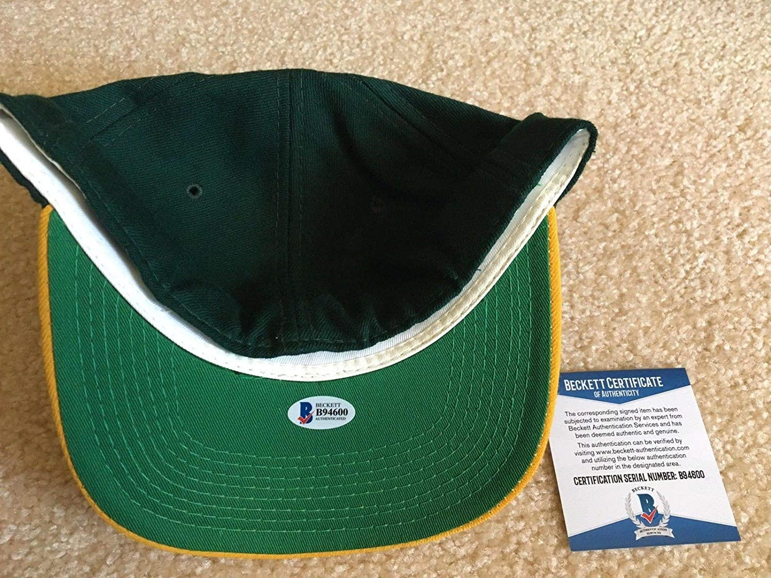 b2b8a3b5 Ray Nitschke Autographed Signed Green Bay Packers Hat Beckett ...