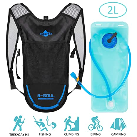 Shayson Mochila Hidratación 6L Mochila + 2L Bolsa de Agua Súper Ligero Mochila de hidratación para Ciclismo Bicicleta Ciclismo Senderismo ...