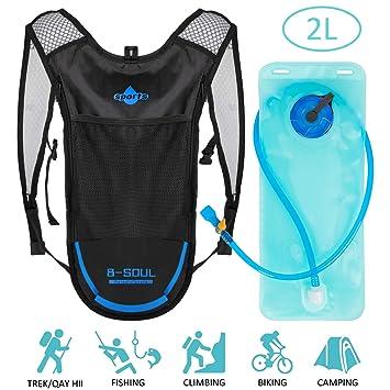 Shayson Mochila de Hydration-2L Bolsas de hidratación y Unisexo Respirable Ultraligero Mochila de Hombro para Ciclismo,Correr,Senderismo,Camping,el ...